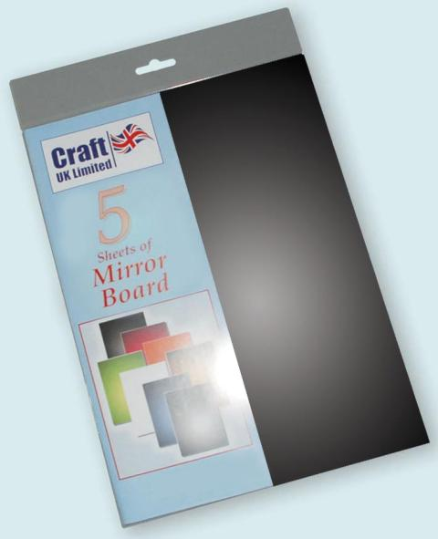 A4 Mirror Board 5 Sheets Black - Click Image to Close